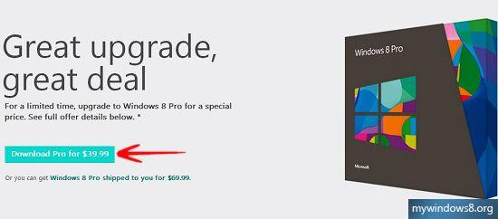 Download Windows 8 Pro