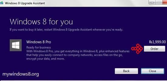 Order Windows 8