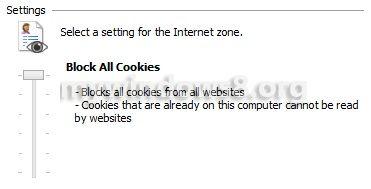 Block all Cookies