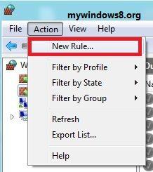 Click New Rules