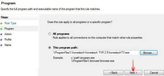 Block specific programs