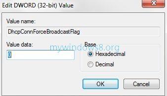 Modify DHCP Flag Value