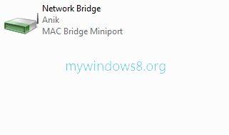 bridge connection created