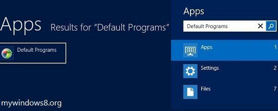 Search Default Program