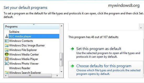 Set program as default