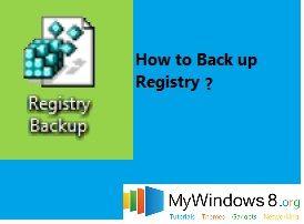 back up registry in windows 8