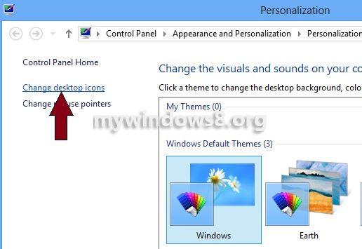 Click Change desktop icons
