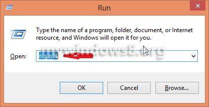 open registry editor from run window