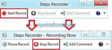 Start or Stop Recording