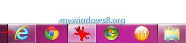 Launch Internet Explorer 10 desktop version