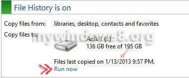 File history last run