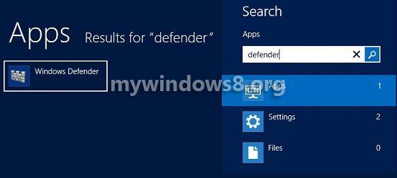 Open Windows Defender