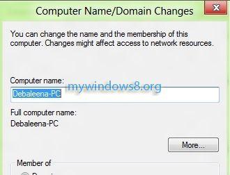 Rename Windows 8 computer