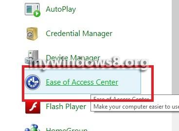 Ease of Access Center