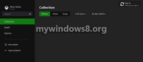 Full Screen view of App