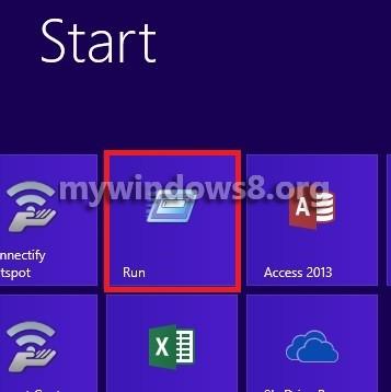 Add Run in Start Screen