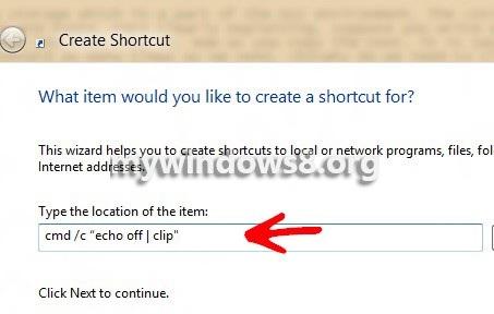 Shortcut-text