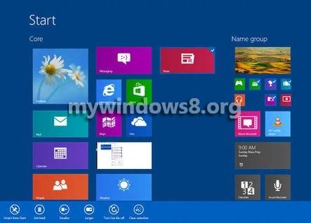 customize tiles Windows blue