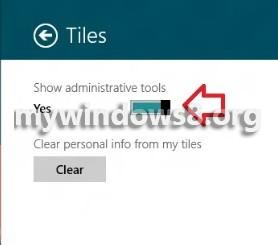 show administrative tools