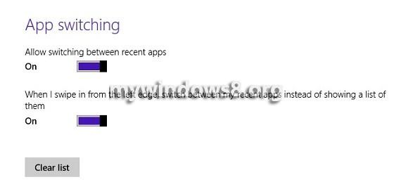 App Switching