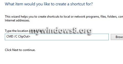 Command Shortcut