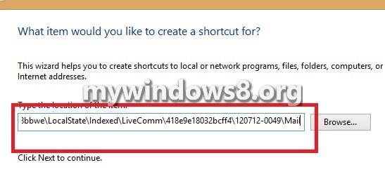 Location Shortcut Mail