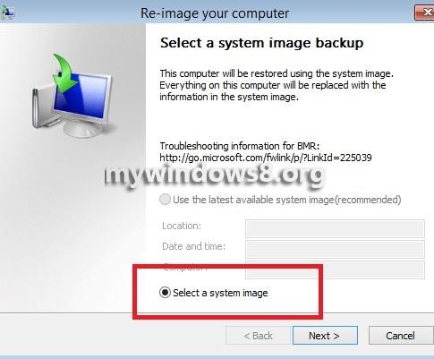 System Image Backups