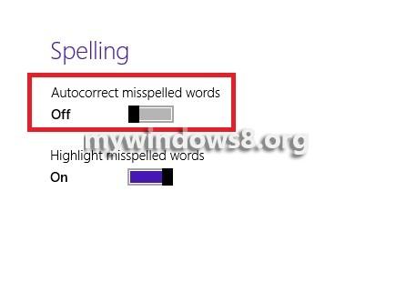 Spelling OFF
