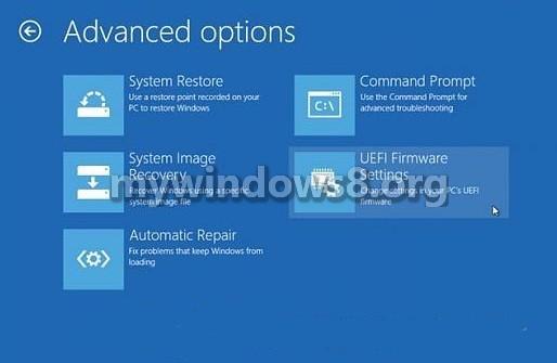 Advanced boot options