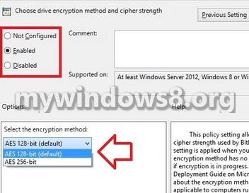 Bit locker encryption system