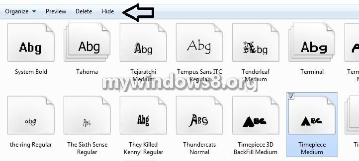 Hide Font