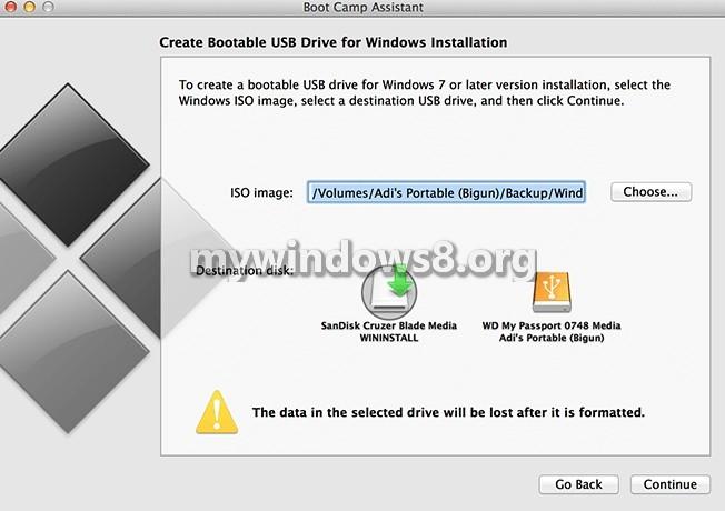 Select Windows 8 .iso file