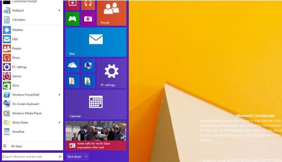 Windows Threshold Windows 9 Desktop