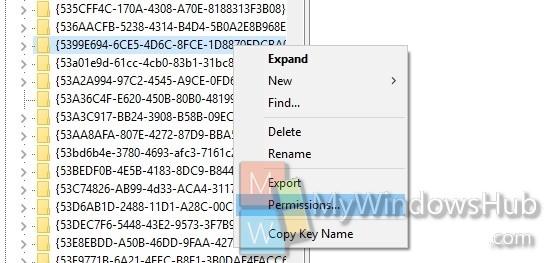 registry editor permission