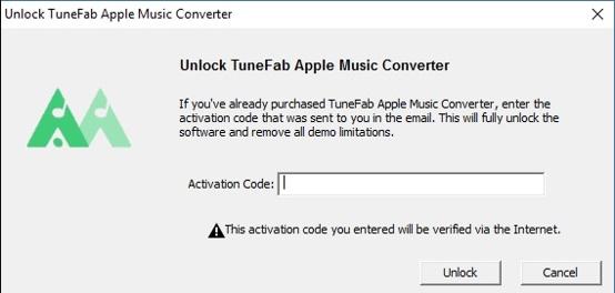 Activate TuneFab Apple Music Converter