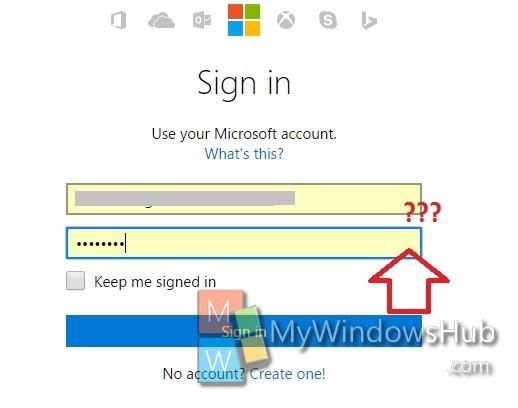 password reveal button