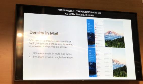 The Windows 10 Mail app getting new Fluent Design density elements