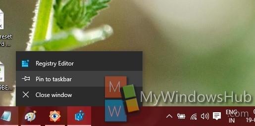 Pin to taskbar