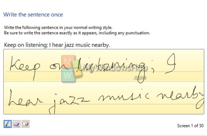 Write handwriting