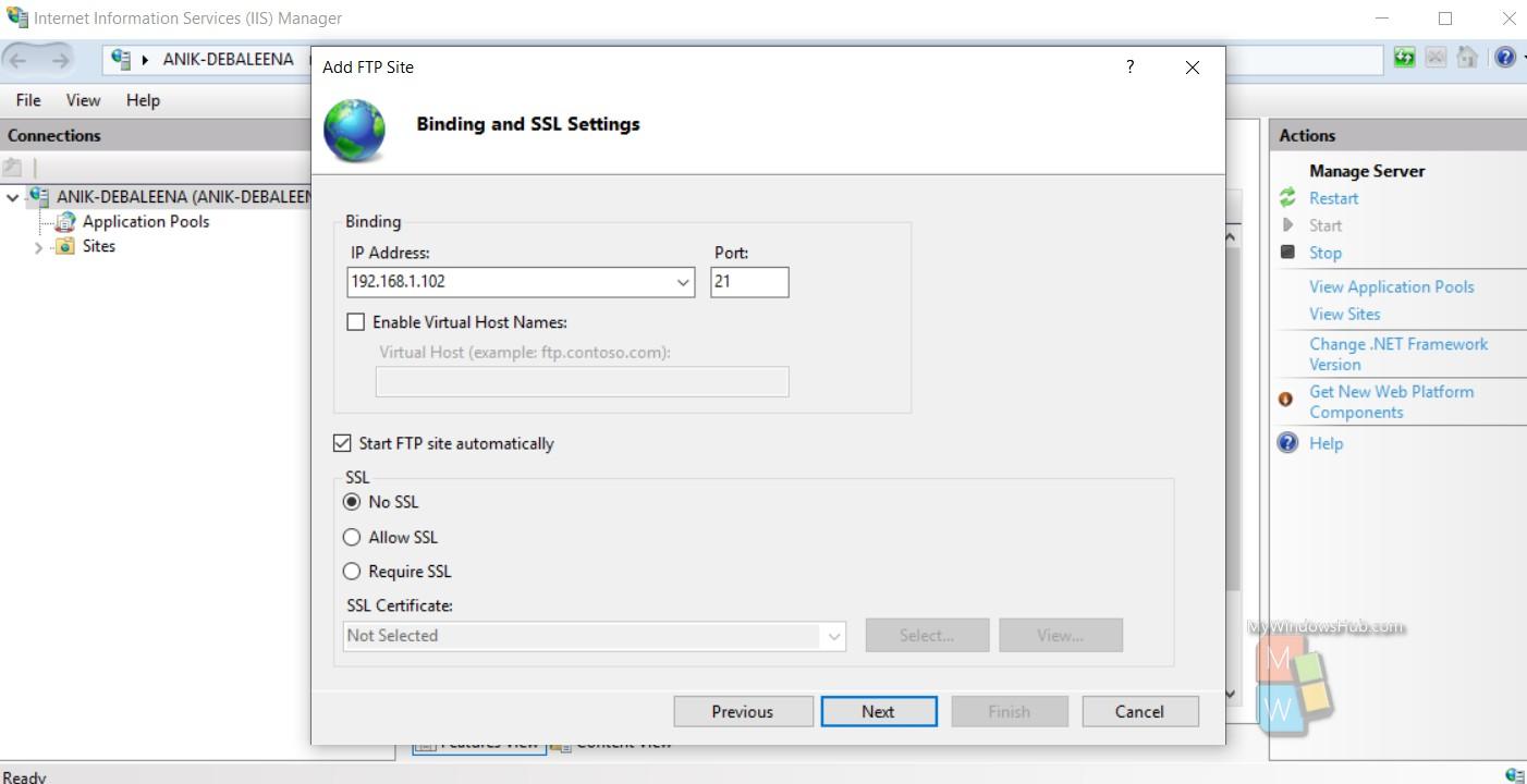 binding anf SSL