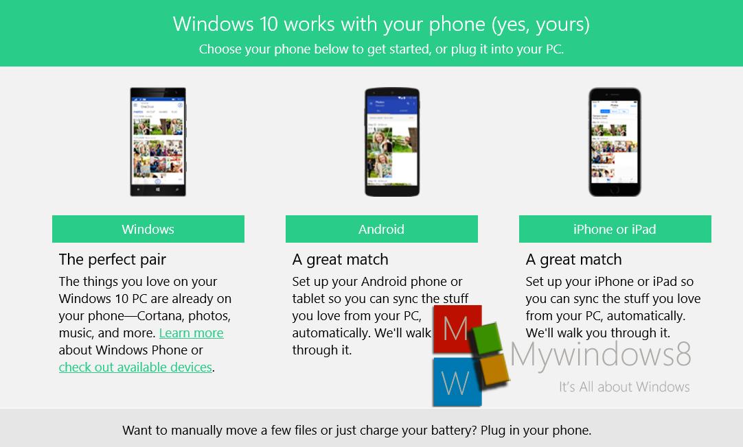 Phone companion app