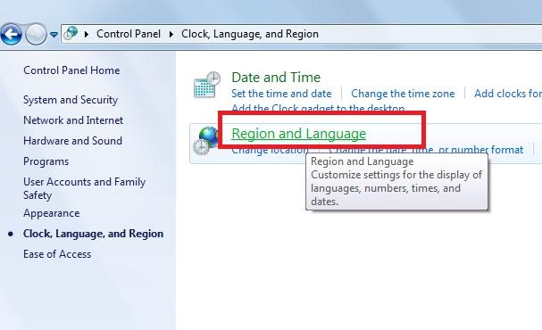 clock language and reg