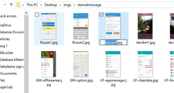 rename files using tab key