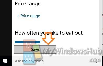 save the option