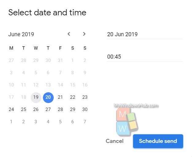 schedule send