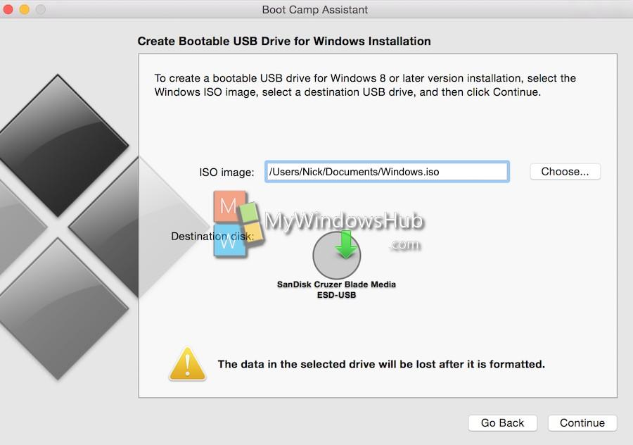 Select Windows.iso file