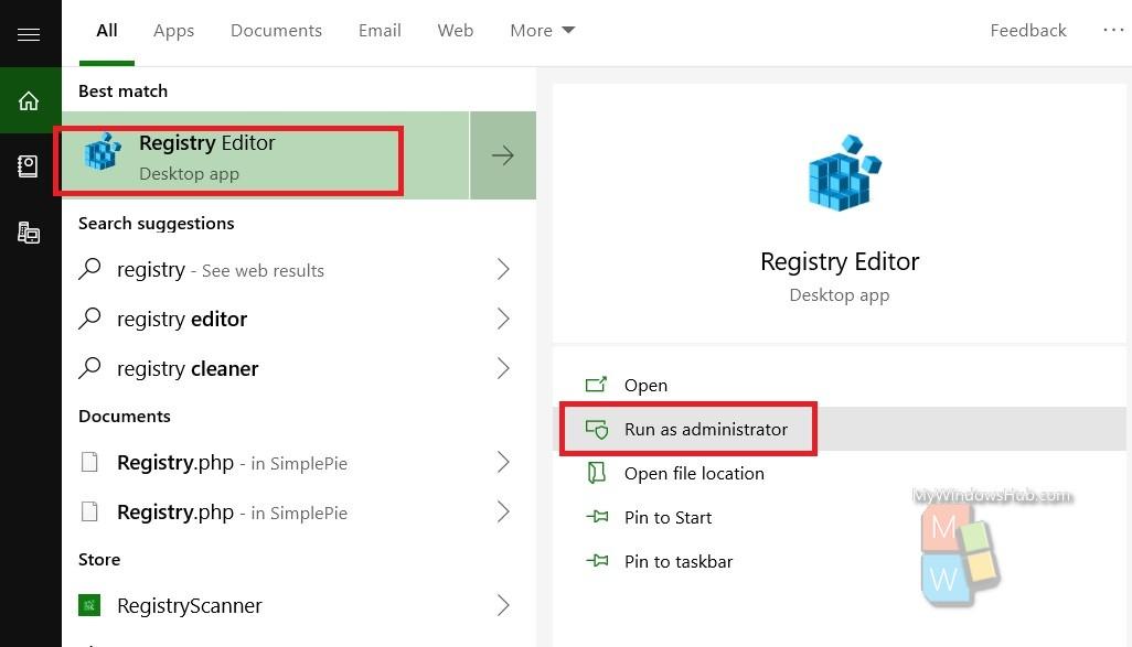 resgitry editor