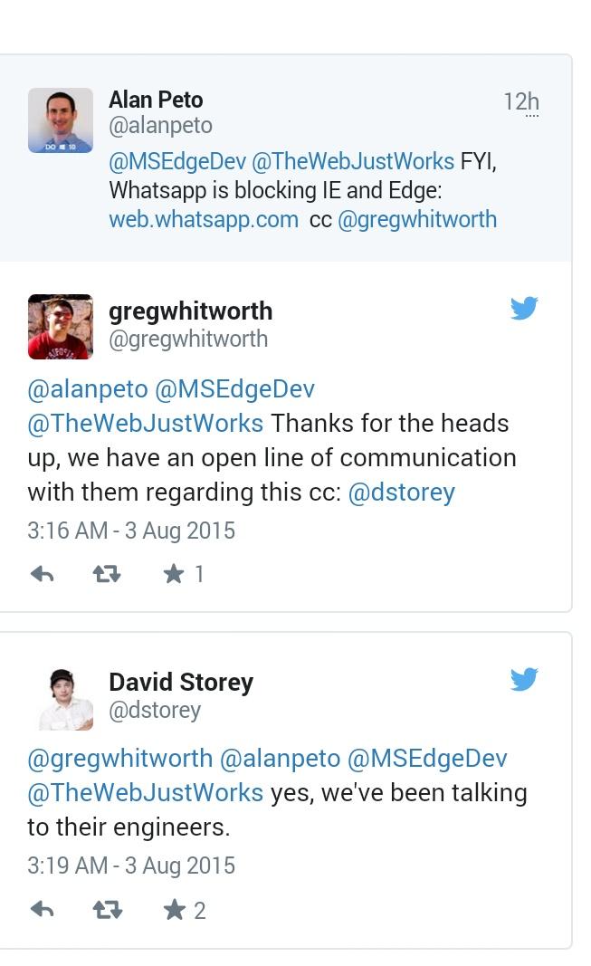 Microsoft working to bring WhatsApp support to Microsoft Edge