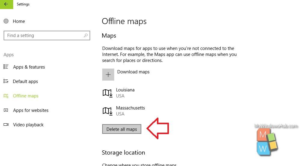 How To Delete Offline Maps On Windows 10? - My Windows Hub