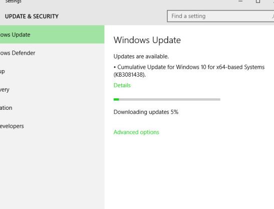 Microsoft pushed third Cumulative Update for Windows 10